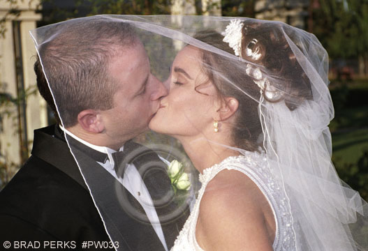 Picture Kissing At Wedding Ceremony