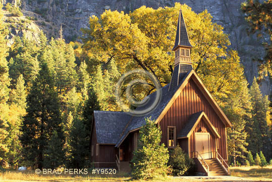 Picture Old Country Church And Steeple Yosemite